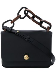 Sophie Hulme Small Spring Tote Leather Black