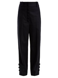 Joseph Young Wool And Cashmere Blend Trousers Navy