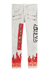 Faith Connexion Printed Skinny Jeans White