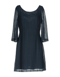 Molly Bracken Short Dresses Dark Blue