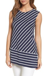 Chaus Women's Asymmetrical Stripe Top