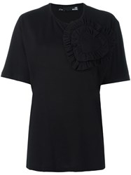 Love Moschino Heart Applique T Shirt Black