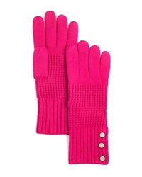 Michael Kors Waffle Stitch Gloves 100 Bloomingdale's Exclusive Deep Fuchsia