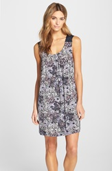 Midnight By Carole Hochman Sleeveless Scoopneck Chemise Blooming Palette
