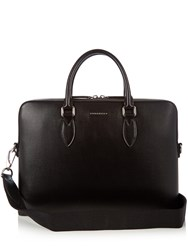 Burberry Barrow Saffiano Leather Briefcase Black