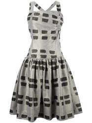 Vivienne Westwood Anglomania Printed Flared Dress Nude Neutrals