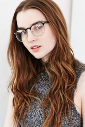 Urban Outfitters Riann Metal Half Frame Readers Clear