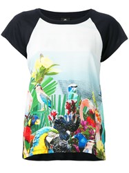 Paul Smith Ps By Bird Print T Shirt Blue