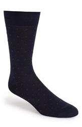Etiquette Clothiers 'Ball Point' Dot Socks Blue Moon