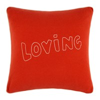 Bella Freud Loving Cushion Red