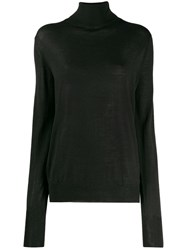 Ma'ry'ya Roll Neck Sweater Black
