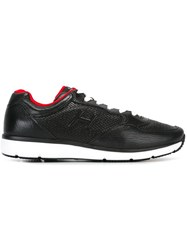 Hogan Perforated Panel Lace Up Sneakers Black