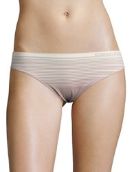 Calvin Klein Stretch Striped Bikini Panties Pink