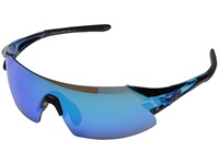 Tifosi Optics Podium Xc Mirrored Interchangeable Crystal Blue Clarion Blue Ac Red Clear Lens Athletic Performance Sport Sunglasses Black
