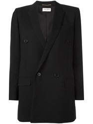 Saint Laurent Double Breasted Blazer Black