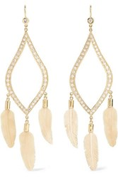 Jacquie Aiche 14 Karat Gold Diamond Earrings One Size