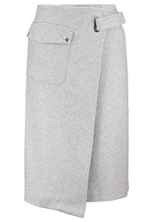 Filippa K Wrap Skirt Light Grey Melange