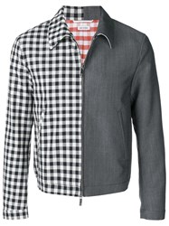 Thom Browne Fun Mix Gingham Golf Jacket Blue