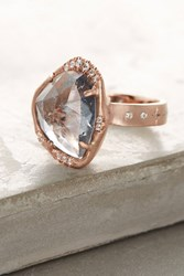 Anthropologie Marvolo Tourmaline Ring Gold