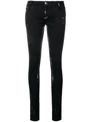 Philipp Plein Distressed Skinny Jeans Black