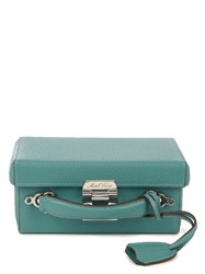 Mark Cross Grace Small Grained Leather Box Bag Blue