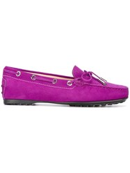 Tod's Classic Loafers Pink Purple