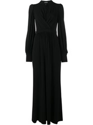Alexander Mcqueen Long Wrap Dress Black