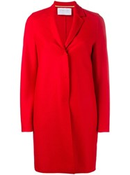 Harris Wharf London Classic Cocoon Coat Red