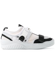N 21 No21 Click Buckle Trainers Men Leather Neoprene Rubber 45 White