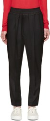 Johnlawrencesullivan Black Elastic Waist Trousers