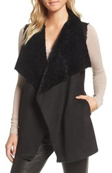 Cupcakes And Cashmere Avalonia Faux Shearling Vest Black
