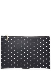 Victoria Beckham Simple Pouch Printed Leather Clutch Black