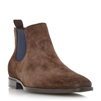 Dune Maritime Colour Chisel Toe Chelsea Boot Brown