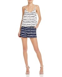 Zoa Strappy Stripe Romper Compare At 107 Navy Print