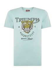 Barbour Men's Triumph Tiger Print T Shirt Aqua