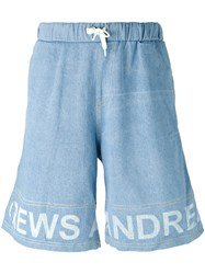 Andrea Crews Frayed Sweatpants Blue