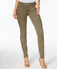 Inc International Concepts Curvy Fit Skinny Jeans Only At Macy's Olive Drab