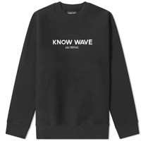 Know Wave Archival Crew Sweat Black