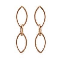 Edge Only Marquise Slice Drop Earrings In 14Ct Gold