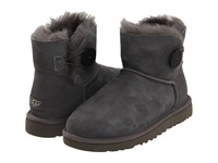Ugg Mini Bailey Button Grey Women's Pull On Boots Gray