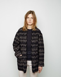 Isabel Marant Erika Tapestry Coat Black