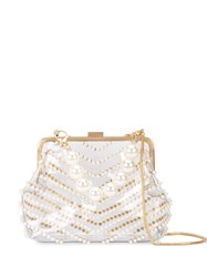Zac Posen Lacey Pearl Frame Clutch 60