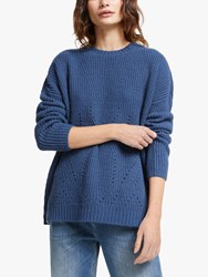 And Or Stacey Textured Knit Jumper Smudge Blue