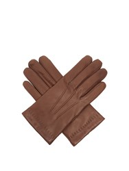Mulberry Soft Leather Gloves Brown