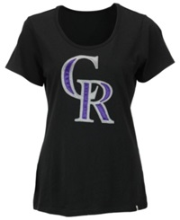 '47 Brand Women's Colorado Rockies Relaxed T Shirt Black