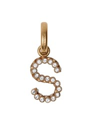 Burberry Crystal 'S' Alphabet Charm Gold