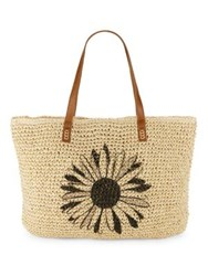 Straw Studios Flower Tote Natural