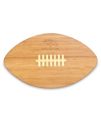 Picnic Time Denver Broncos Ball Shaped Cutting Board Burlywood