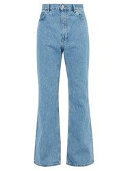 Martine Rose Flared Fitted Jeans Blue