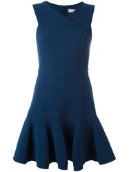 Carven Flared Mini Dress Blue